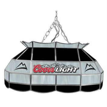 Coors Light 28 inch Stained Glass Pool Table Lamp