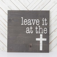 Leave It At The Cross Wall Art | Altar'd State