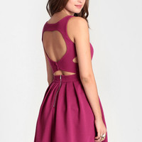 Heartbeat Ribbed Dress In Magenta - $52.00: ThreadSence, Women's Indie & Bohemian Clothing, Dresses, & Accessories
