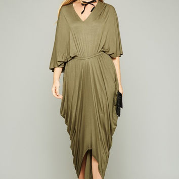 Drapes in This Place Hi Low Maxi Dress