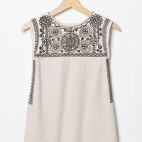 Gap Girls Floral Embroidered Dress