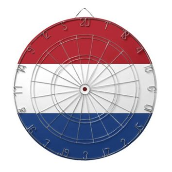 Dartboard with Flag of Netherlands