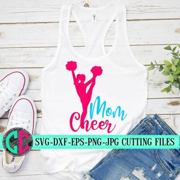 Cheerleading mom svg, cheer mom svg, cheerleader svg, football SVG, cheerleader cut file, Football mom SVG, svg for cricut, eps,dxf