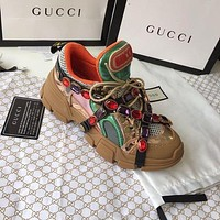 shosouvenir  : GUCCI  Flashtrek sneaker with crystals  5 colors
