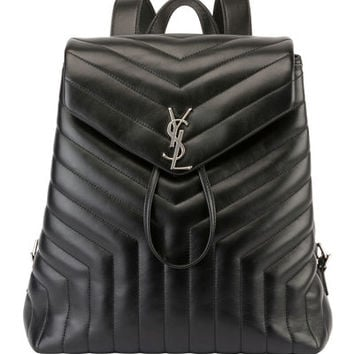 Saint Laurent Loulou Monogram Medium Quilted Leather Backpack