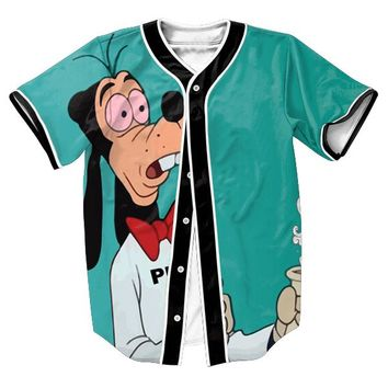 Super Stoned Goofy Jersey TEES Men's shirts  FUNNY 3d Streetwear baseball shirt sweat  shirt with buttons summer style Hip Hop