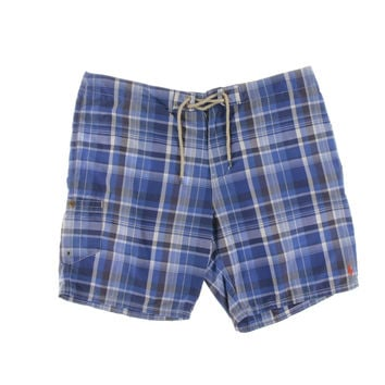 Polo Ralph Lauren Mens Plaid Rope String Board Shorts