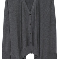 Alexander Wang - Oversized fine-knit wool cardigan