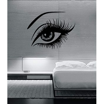 Sexy Beautiful Female Eye Big Eye Lashes Decor Wall Mural Vinyl Art Sticker Unique Gift (m526)