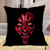 Darth Maul Face Star Wars Movie on Square Pillow Cover