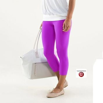 Lululemon Wunder Under Crop Women Sport Leggings Pants Trousers-1