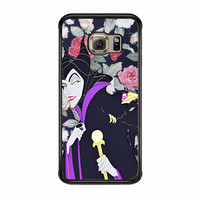 Malficient Disney Floral Samsung Galaxy S6 Edge Case