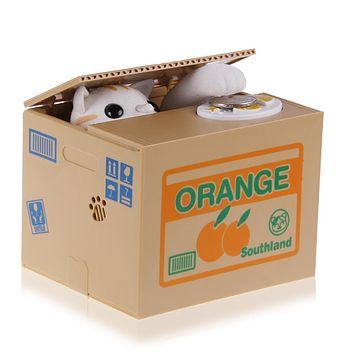 Anime Cat Piggy Bank Coin Box