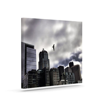 "Sylvia Cook ""Seattle Skyline"" City Clouds Canvas Art"