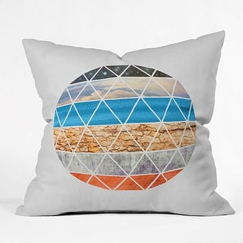 Terry Fan Geodesic Throw Pillow