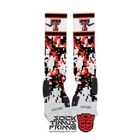 Custom Nike Elite Socks -  Texas Tech Red Raiders Custom Nike Elites - Texas Tech Socks, Custom Elites, Texas Tech Football