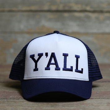 Y'ALL Trucker Hat (Blue)