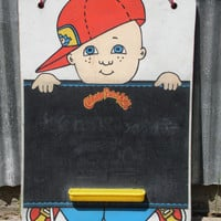 1983 CABBAGE PATCH chalkboard/vintage cabbage patch kid/chalkboard/children's chalkboard/boy cabbage patch kid