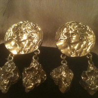 LEDO CHUNKY EARRINGS Clip Face Polcini