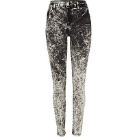 Grey acid wash Molly jeggings - jeggings - jeans - women