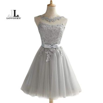 Lovoney Ch604 Short Prom Dresses Backless Lace Up Prom Gown Formal Dress Women Occasion Party Dresses Robe De Soiree