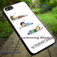 Supernatural Drawing Team Freewill Cute Sleeping iPhone 6s 6 6s+ 5c 5s Cases Samsung Galaxy s5 s6 Edge+ NOTE 5 4 3 #movie #supernatural #superwholock #sherlock #doctorWho dt