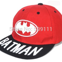 6-12 Years Children Baseball Hats Boys Girls Batman Embroidery Baseball Hat Cotton hats Kids Accessories Free Shippnig 1pc H562 = 1928025348