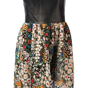Valentino Floral Bustier Dress
