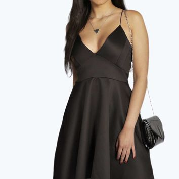 Plus Georgina Plunge Neck Skater Dress
