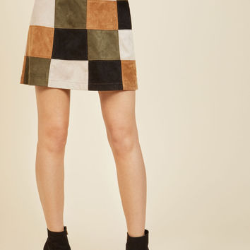 BB Dakota Not a Square in the World Mini Skirt | Mod Retro Vintage Skirts | ModCloth.com