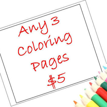 Printable Coloring Pages Zendoodle Art, Set of 3 by JoArtyJo