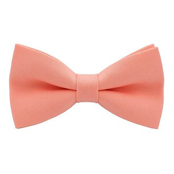 Bright Peach Bow Tie