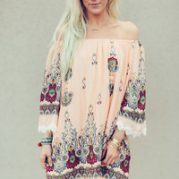 Off the Road Floral Dress