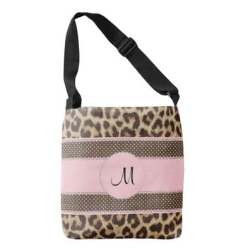 Monogram Leopard Print Cross Body Bag