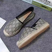 GUCCI Slip-On Women Fashion Espadrilles Flats Shoes