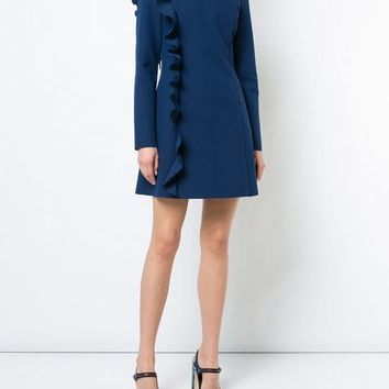 MSGM Frill Detail long-sleeved Dress - Farfetch