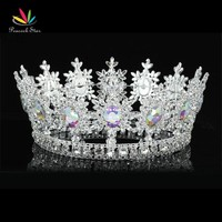 Peacock Star Men King Crown Pageant Unisex Cosplay Accessories