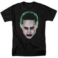 Suicide Squad Joker Head Mens T-Shirt