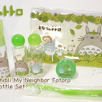 Strapya World : Studio Ghibli My Neighbor Totoro Travel Bottle Set (Blue Sky Series)