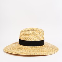 Catarzi Wide Brim Straw Fedora