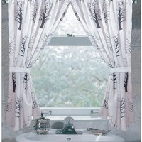Faith Fabric Bathroom Window Curtains