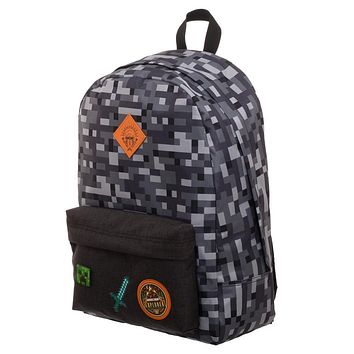 MPBP Minecraft Backpack  Minecraft Camo Grey Backpack