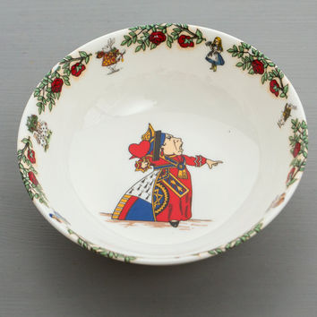 Queen of Hearts Cereal Bowl from Alice in Wonderland Tea Party Range