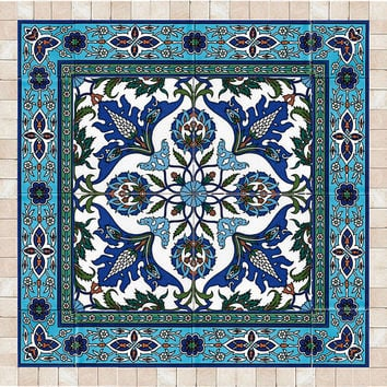 Tiles and stone mosaic wall art decor, Islamic art, ready to hang