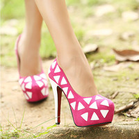 High Heels with White Triangle from chiccasesandhomeproducts