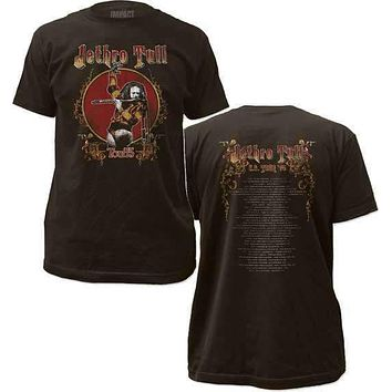 Jethro Tull Tour 75 Fitted Jersey Tee