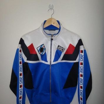 new year sale vintage u c sampdoria 1994 sweater large vintage asics soccer jacket trainer football medium  number 1