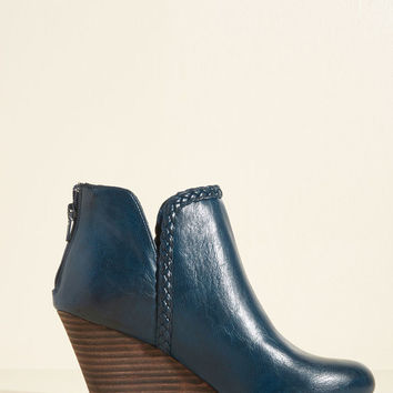 Kicks Into High Gear Bootie in Blue