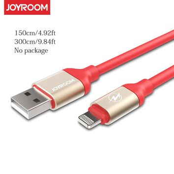 Joyroom 1.5m 3m Long Extended USB Cable for iPhone 6 6s 7 Plus SE 5s 5 5c iPad Mini Air Pro Charging Cable Data Line IOS 10