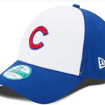 Chicago Cubs 9FORTY The League Adjustable Hat With White Panel Front By New Era